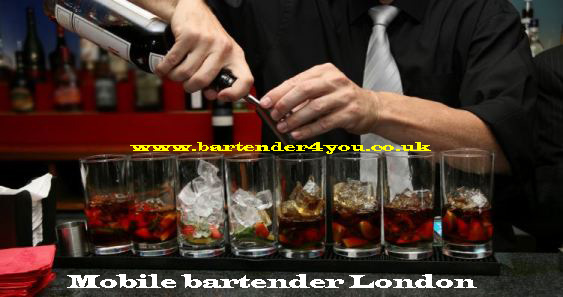 mobile bartender london